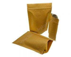 Bolsa de papel rayado marrón