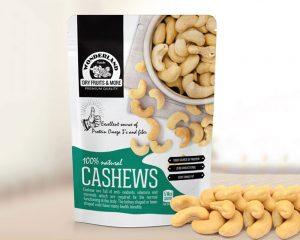 Bolsas personalizadas impresas para el envasado de frutos secos.